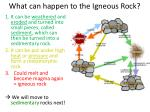 what can happen to the igneous rock