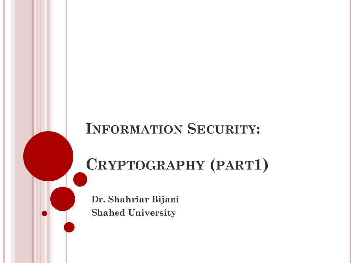 information security cryptography part1 n.