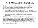a b marx and the symphony