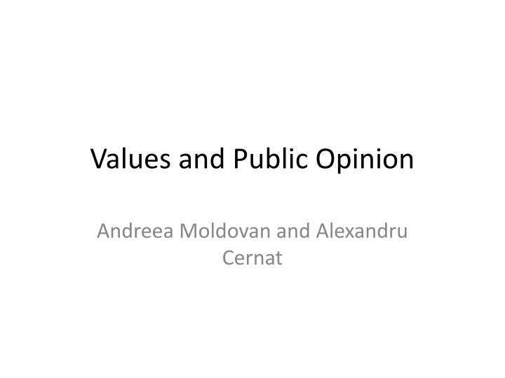 values and public opinion n.