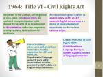 1964 title vi civil rights act