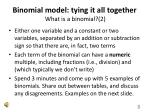 binomial model tying it all together what is a binomial 2