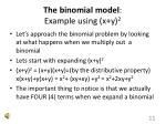 the binomial model example using x y 2