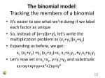 the binomial model tracking the members of a binomial