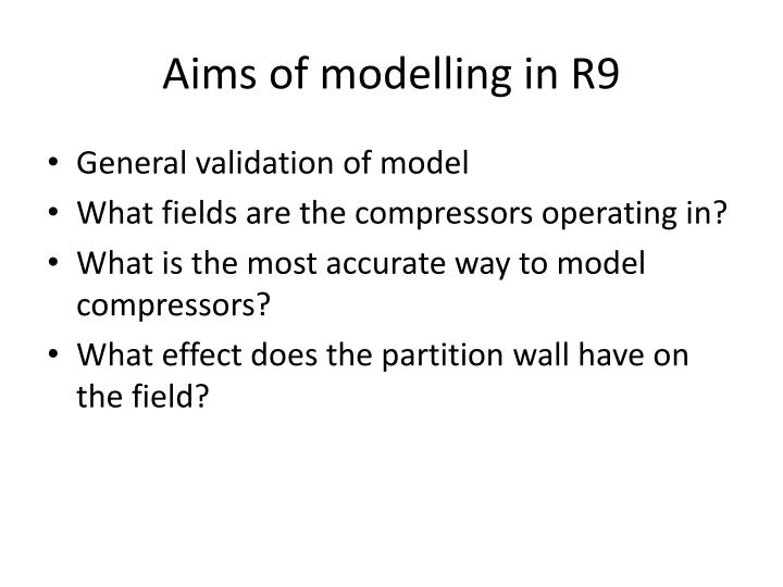 aims of modelling in r9 n.