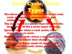 rock cycle rock types
