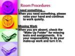 room procedures1