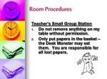 room procedures2