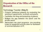 organization of the office of the research8