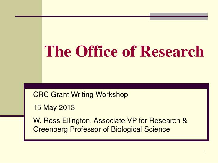 the office of research n.