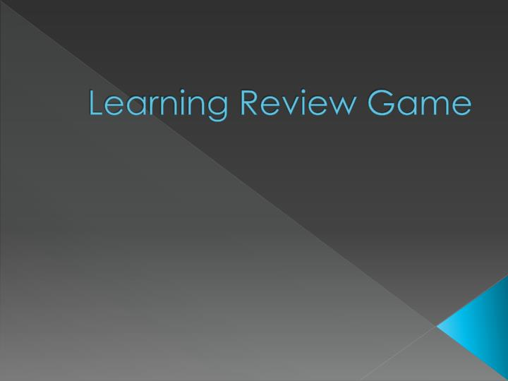 learning review game n.