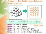 problem 1 the artillerymens dilemma is not a puzzle