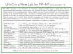 lhec is a new lab for pp np cracow paper 147