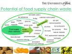 potential of food supply chain waste