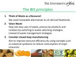 the bis principles