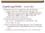 liquids and solids answer key