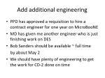 add additional engineering