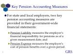 key pension accounting measures
