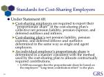standards for cost sharing employers1