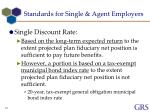 standards for single agent employers3
