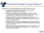 standards for single agent employers4