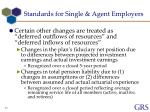 standards for single agent employers7