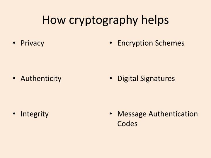 How cryptography helps