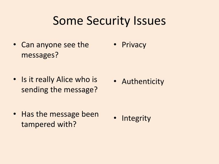 Some security issues