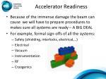accelerator readiness