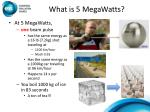 what is 5 megawatts
