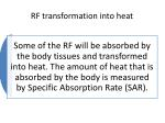 rf transformation into heat