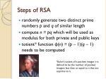 steps of rsa