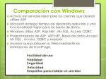 comparaci n con windows