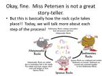 okay fine miss petersen is not a great story teller