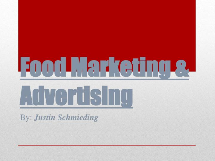 food marketing advertising n.
