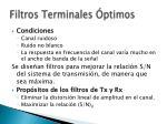 filtros terminales ptimos