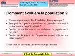 comment voluera la population