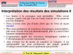 interpr tation des r sultats des simulations ii