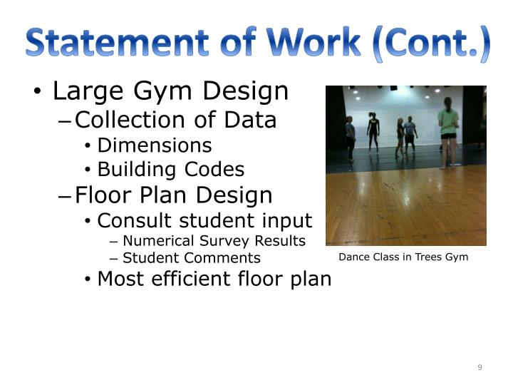 Statement of Work (Cont.)