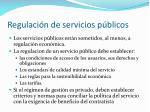 regulaci n de servicios p blicos