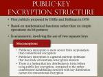 public key encryption structure