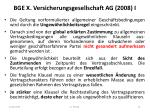 bge x versicherungsgesellschaft ag 2008 i