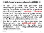 bge x versicherungsgesellschaft ag 2008 iii