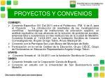 proyectos y convenios