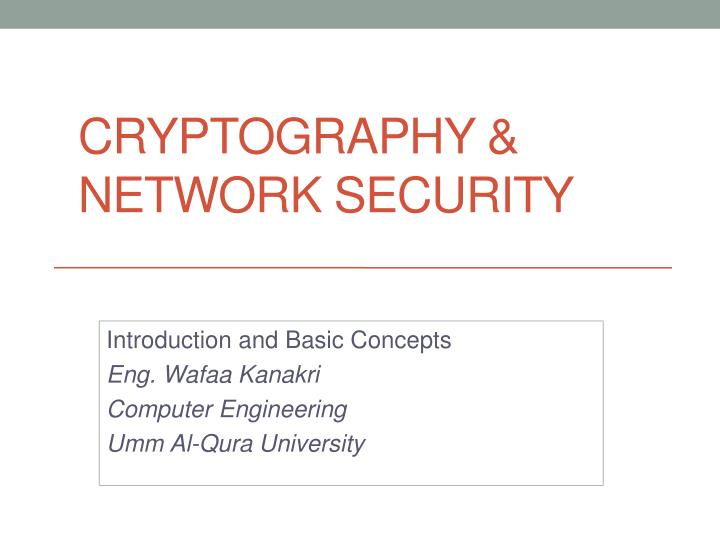 cryptography network security n.