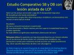 estudio comparativo sb y db con lesi n aislada de lcp