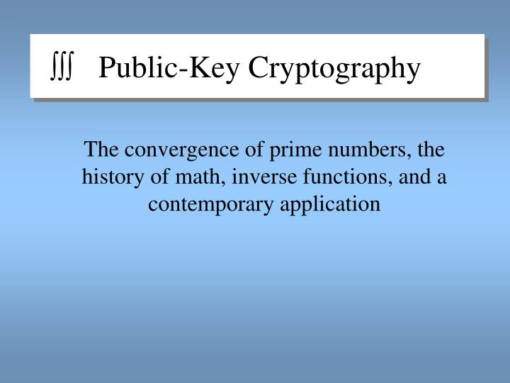 public key cryptography n.