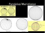 paralelos meridianos
