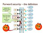 forward security the definition