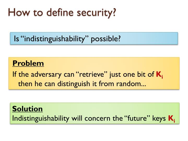 How to define security?